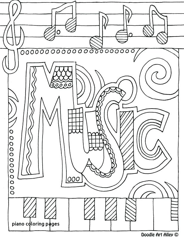 618x799 Piano Coloring Pages Piano Coloring Es For Adults Key E New