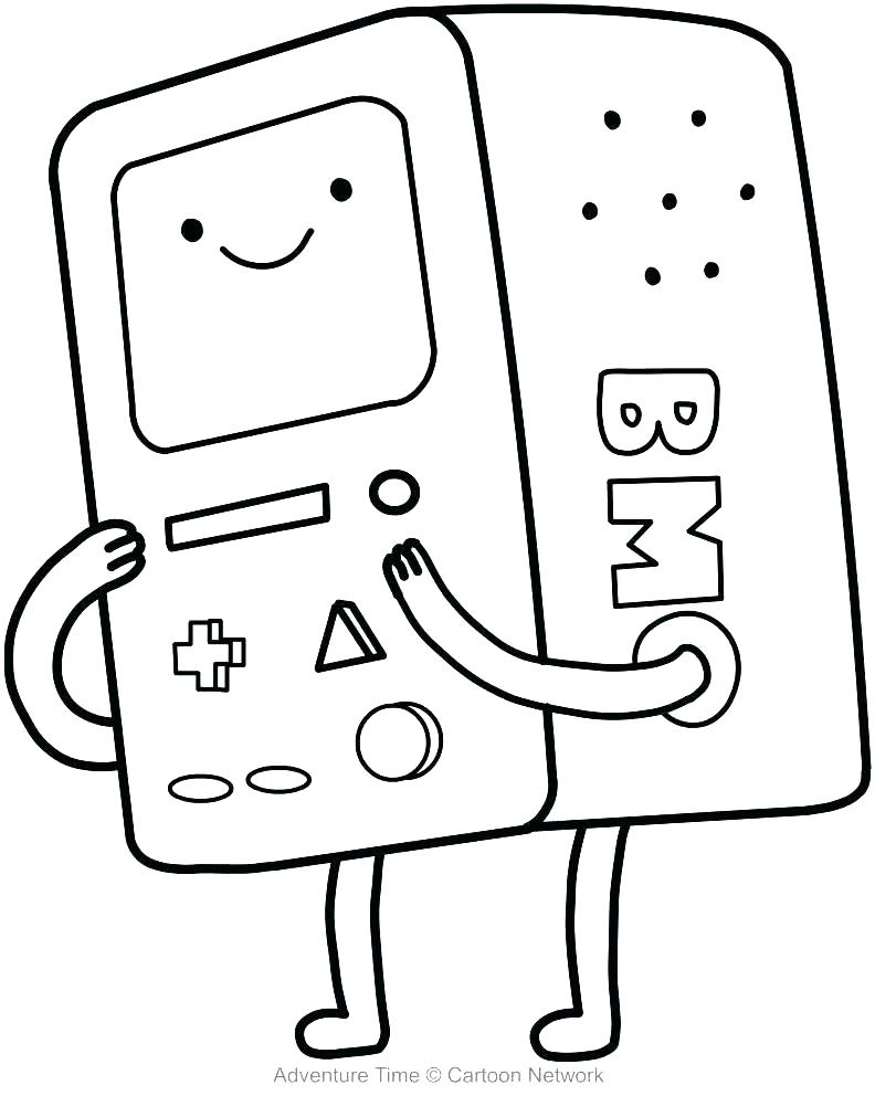 792x992 Computer Coloring Page