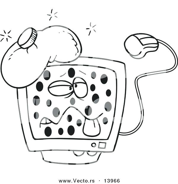 600x620 Computer Coloring Pages Murs
