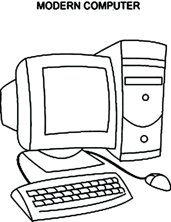 600x780 Computer Coloring Pages Computer Lab Coloring Sheets