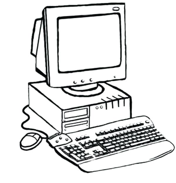 600x624 Computer Coloring Pages
