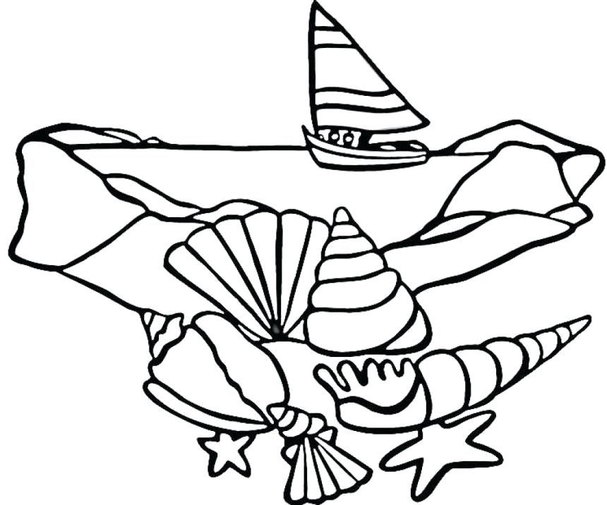 860x716 A Lovely Fighting Conch Seashell Coloring Page Download A Lovely