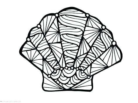 473x355 Sea Shell Coloring Page Coloring Pages Sea Shell Beach Shell