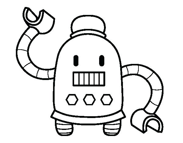 600x470 Free Robot Coloring Page Robot With Long Arms Coloring Page Robot