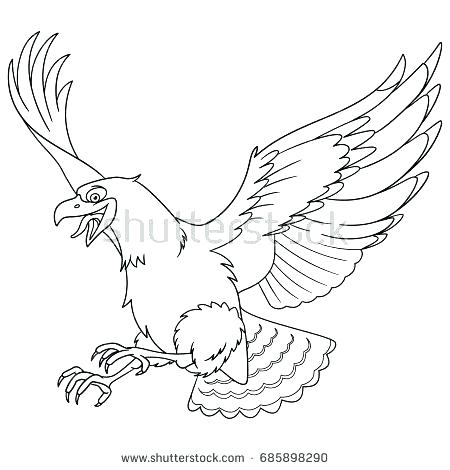 450x470 Hawk Coloring Pages Red Tailed Hawk Coloring Page Coloring Page
