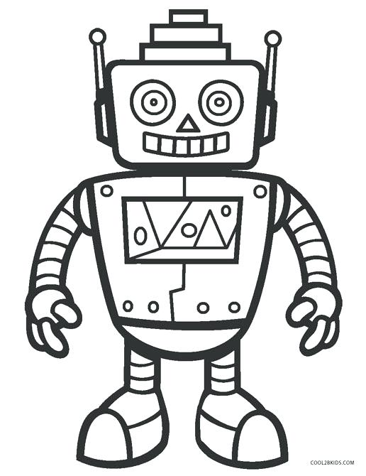 516x670 Robot Coloring Pages Coloring Sheets Free Printable Robot Coloring