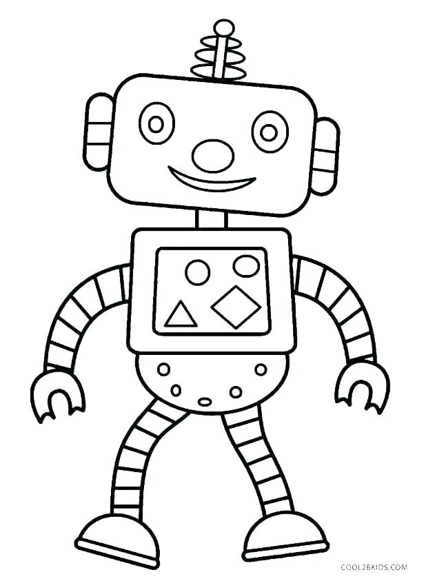 618x843 Robots Simple Robots Coloring Pages For Kids To Print Color