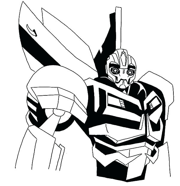 600x620 Coloring Pages Robot
