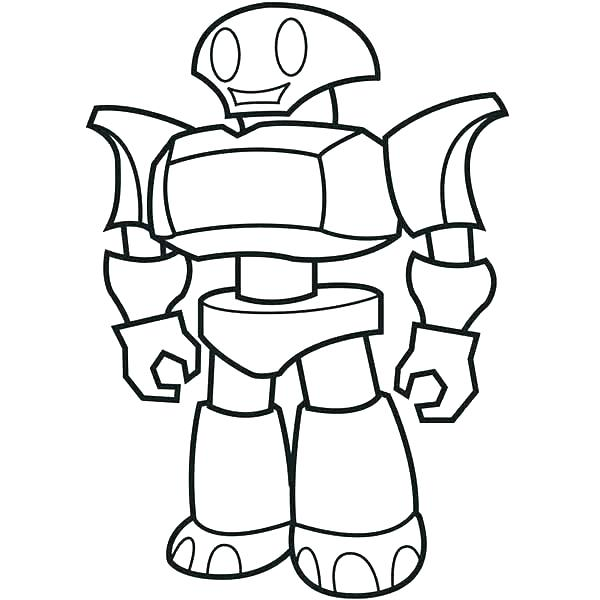 600x600 Robot Coloring