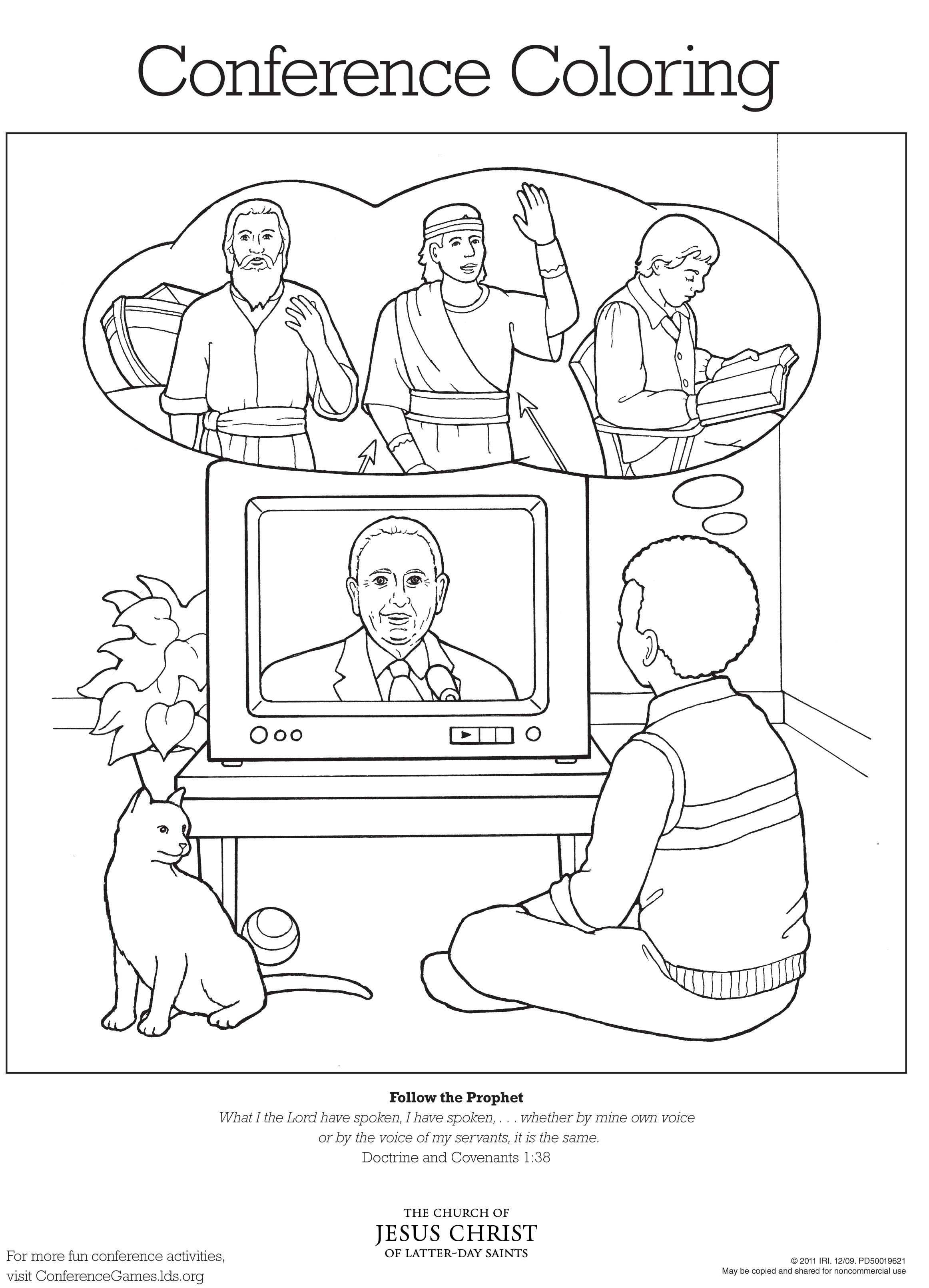 2324x3221 Conference Coloring Page Lds Lesson Ideas