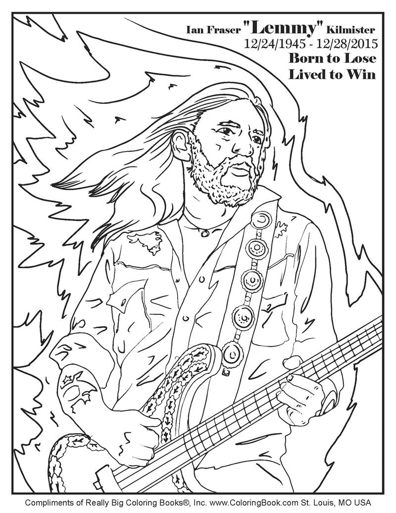 800x1035 Coloring Books Ian Fraser Lemmy Kilmister Free Online Coloring