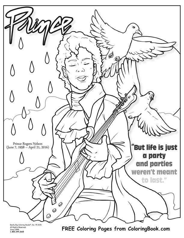 612x789 Coloring Books Prince Free Online Coloring Page