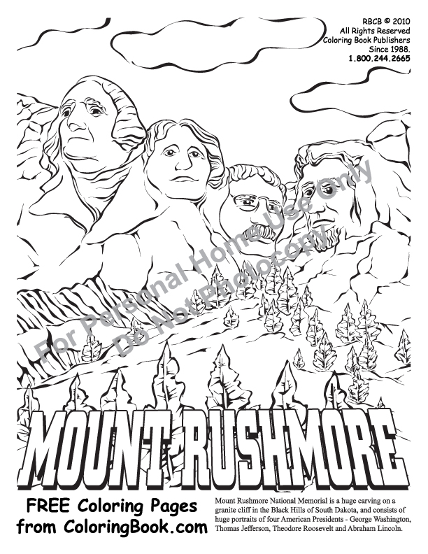 612x792 Coloring Pages Free Online Coloring Pages Mt Rushmore