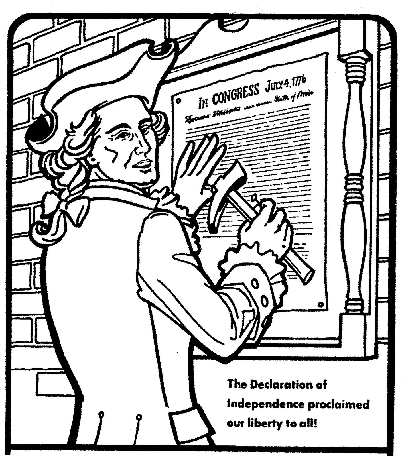 1417x1600 Declaration Of Independence Coloring Pages Printable Coloring