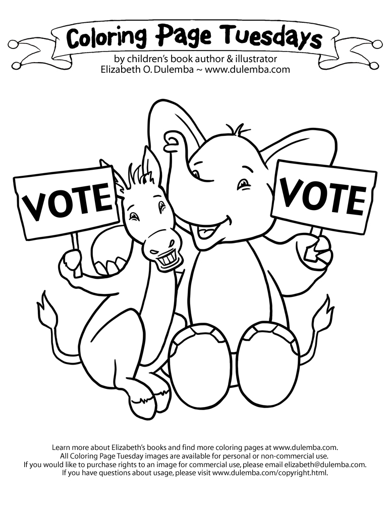 773x1000 Election Day Coloring Pages