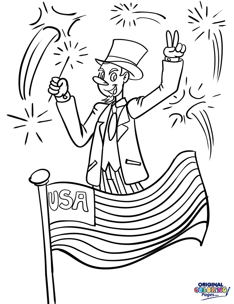 815x1056 Independence Day Coloring Pages Original Coloring Pages