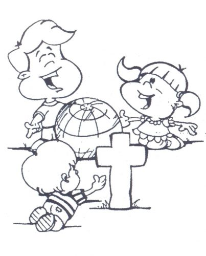 403x500 Coloring Page Missionary Coloring Pages Printable Missionary