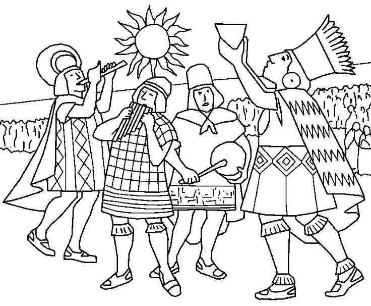 736x606 Inca Coloring Pages Empire Page Wallpaper For Girls