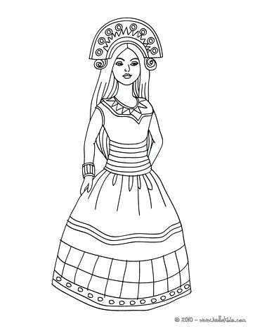 363x470 Inca Coloring Pages For Girls