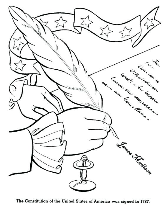 Constitution Day Coloring Pages At Getdrawings Com Free For