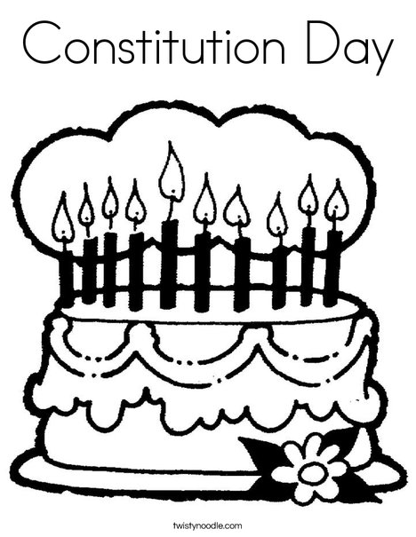 468x605 Constitution Day Coloring Page