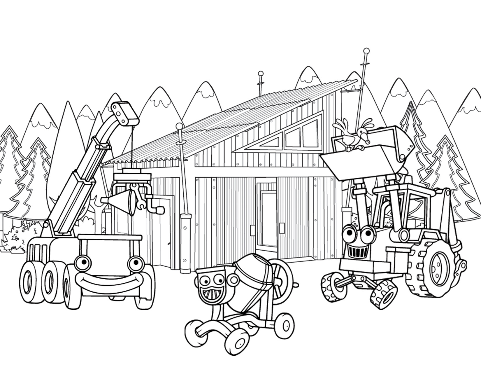 1650x1275 Construction Coloring Pages Download