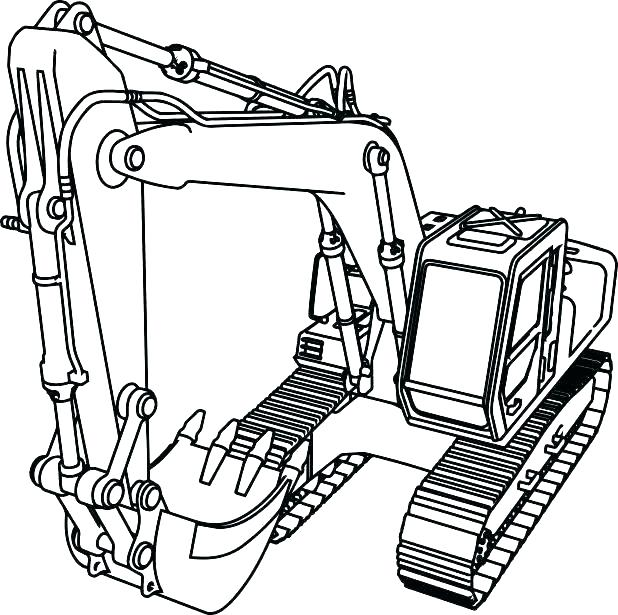 618x615 Construction Truck Coloring Pages Bulldozer Coloring Page