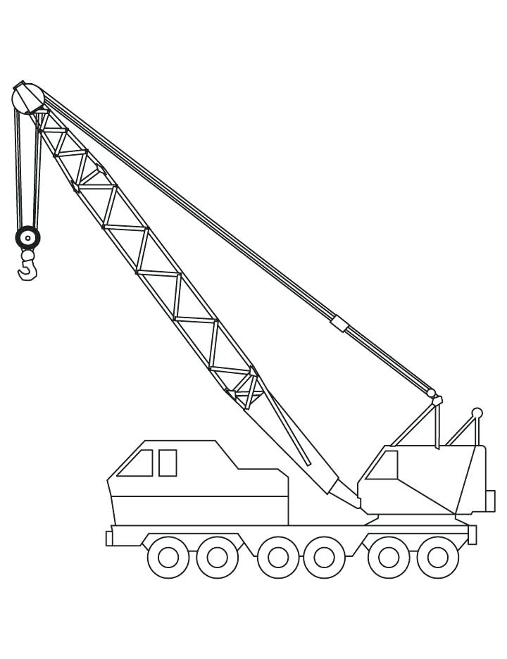 720x936 Construction Truck Coloring Pages Crane Coloring Pages