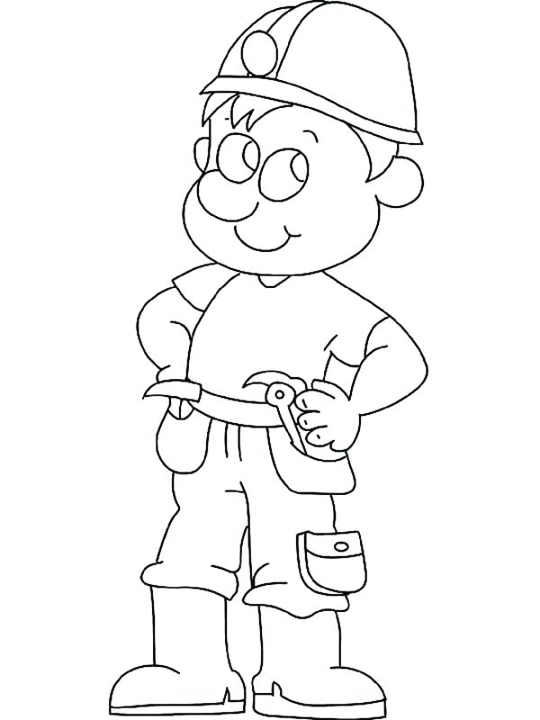 600x800 Construction Coloring Book