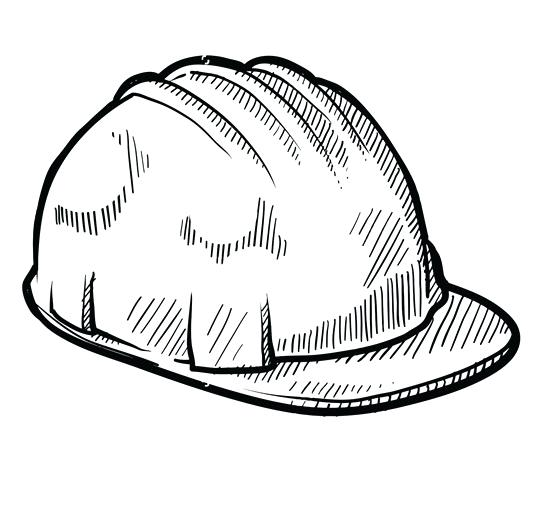 539x528 Construction Hard Hat Coloring Page With Wallpapers Phone