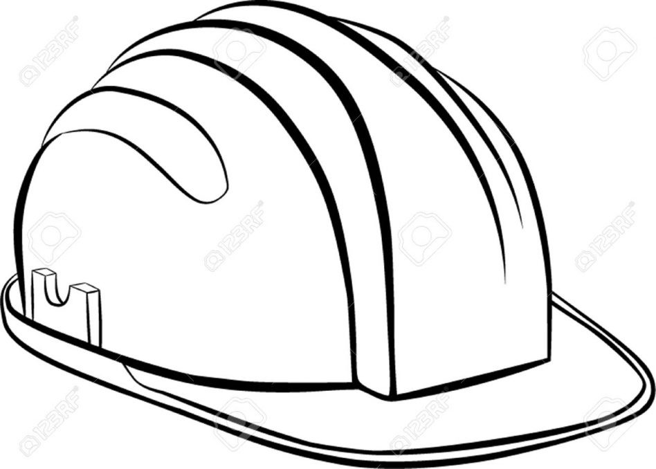 948x678 Construction Hat Coloring Pages New Hard Hat Coloring Page