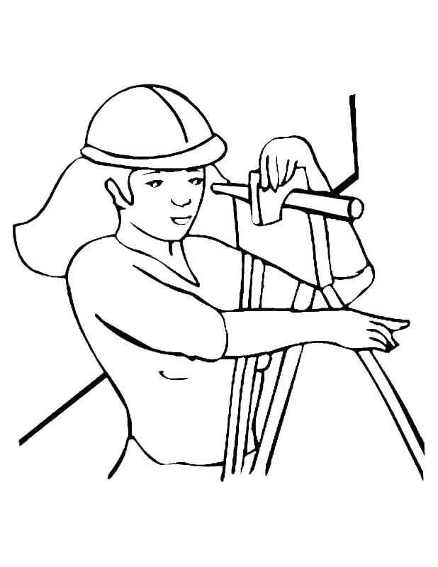 618x800 Construction Worker Coloring Page Construction Equipment Coloring