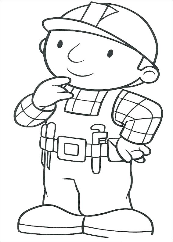 567x794 Construction Worker Coloring Page Remarkable Construction Worker