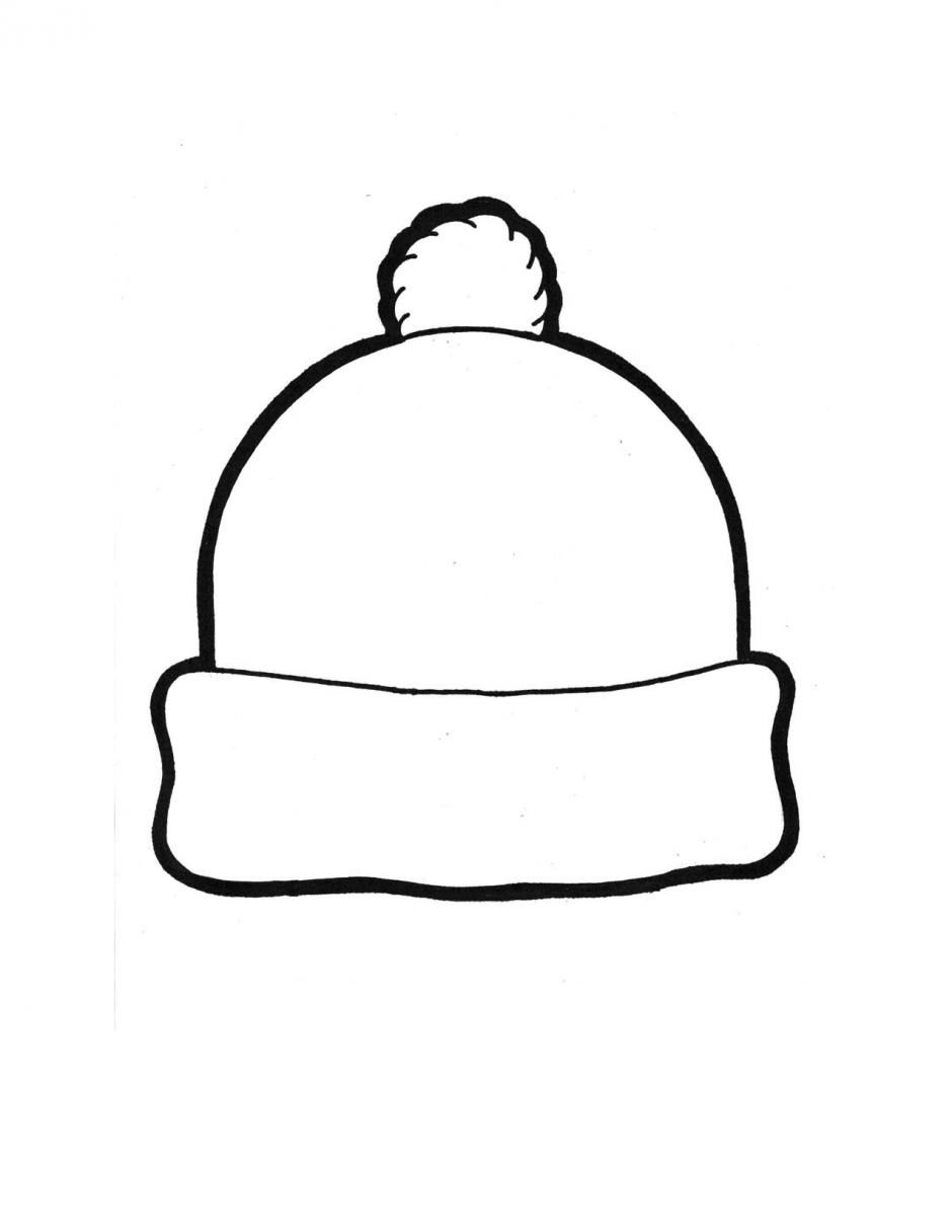 940x1216 Winter Hat Template Winter Hat Coloring Page January