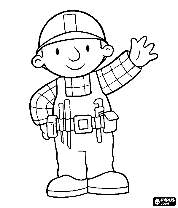 600x703 Construction Worker Coloring Page
