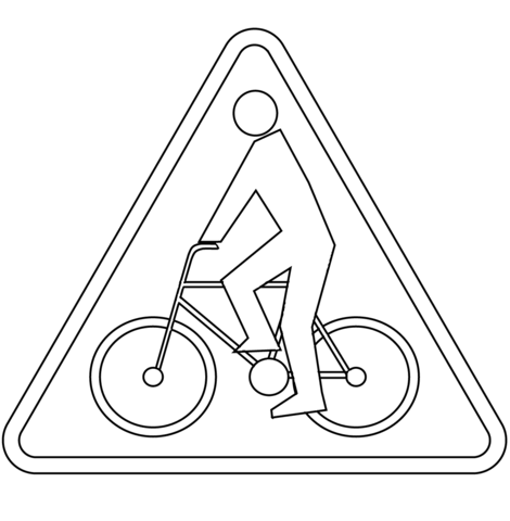 470x480 Print Cyclists A Free Printable Also Download Coloring Page