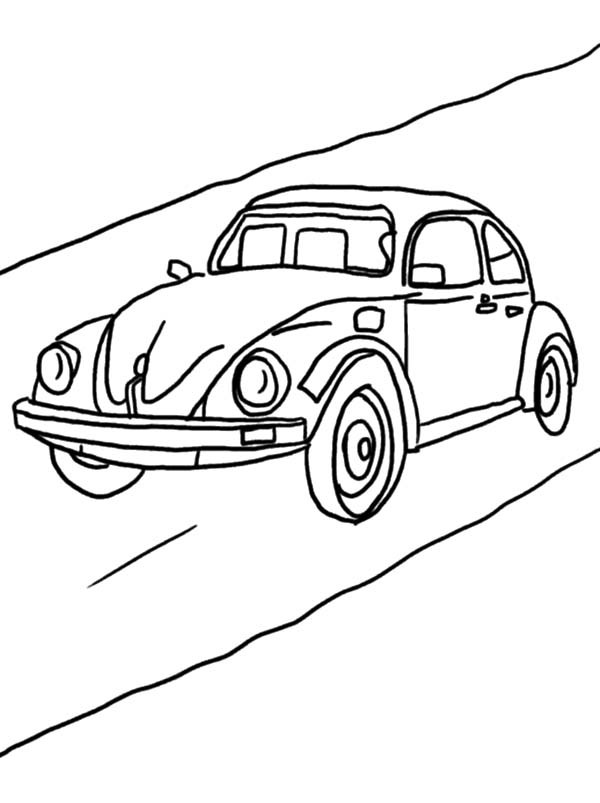 600x803 Beetle Car On The Road Coloring Pages Best Place To Color