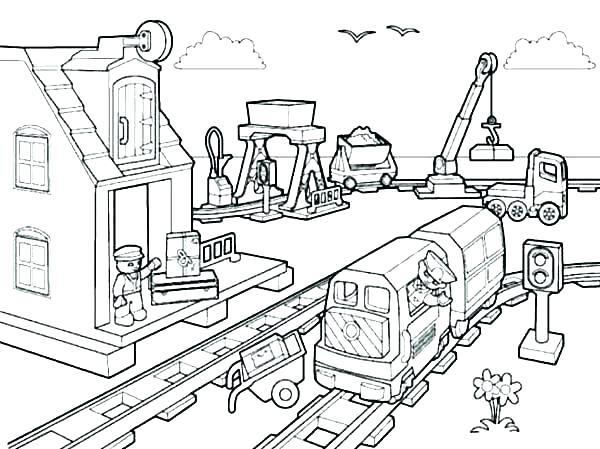 600x449 Construction Coloring Page Construction Coloring Page Construction