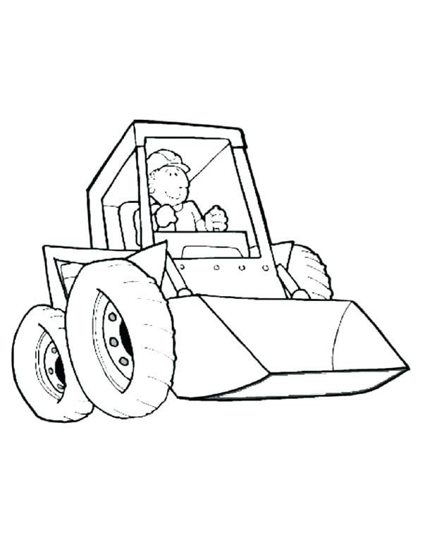 600x776 Construction Machine Coloring Pages Drawing Construction Truck