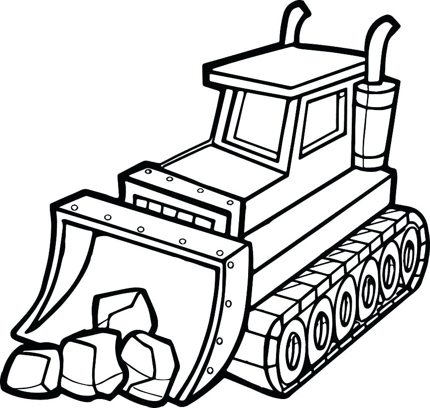 863x819 Bulldozer Coloring Pages Construction Coloring Pages Construction
