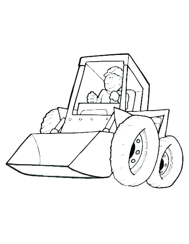 618x800 Construction Vehicle Coloring Pages