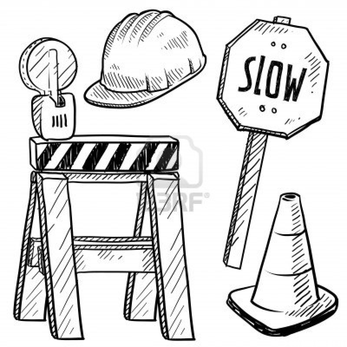 Construction Worker Coloring Pages