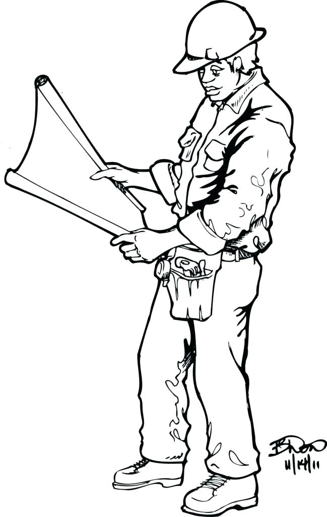 649x1024 Construction Worker Coloring Page Construction Coloring Pages