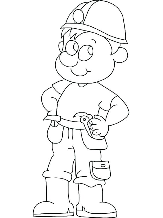 564x752 Construction Worker Coloring Pages Community Workers Coloring