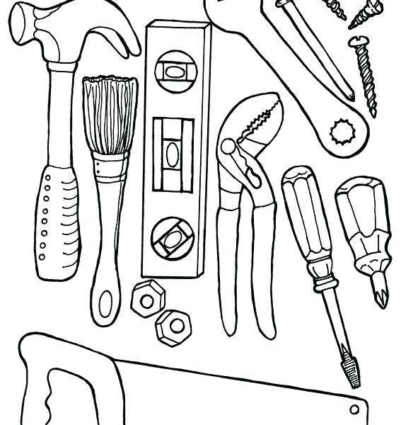 567x600 Construction Worker Coloring Pages Construction Coloring