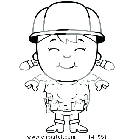 450x470 Construction Worker Coloring Pages Construction Worker Coloring