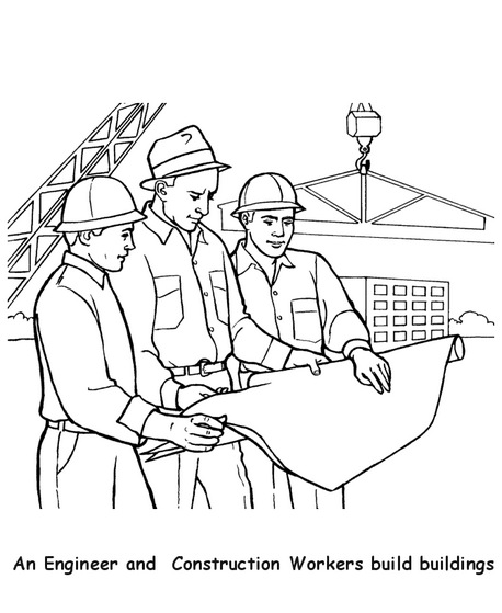 458x559 Construction Workers Coloring Page Coloring Book
