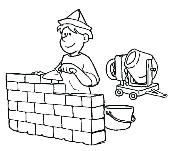 600x513 Sign Coloring Pages Sign Coloring Pages Construction Coloring