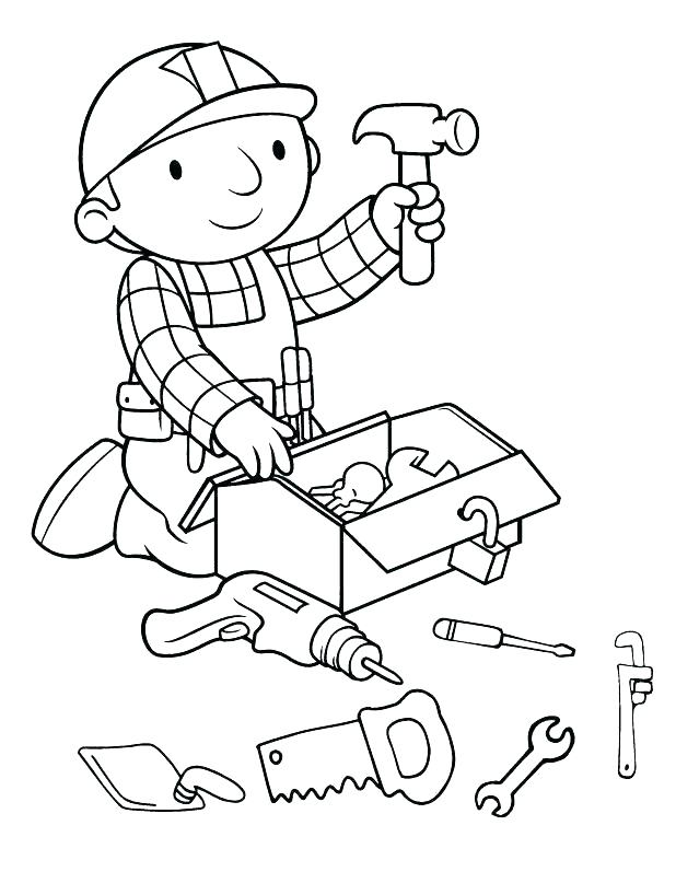 618x818 Tools Coloring Pages Tools Coloring Page Construction Worker
