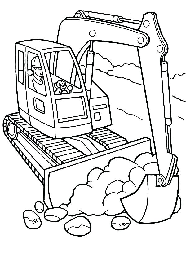 600x856 Construction Coloring Pages Excavator And Dump Truck
